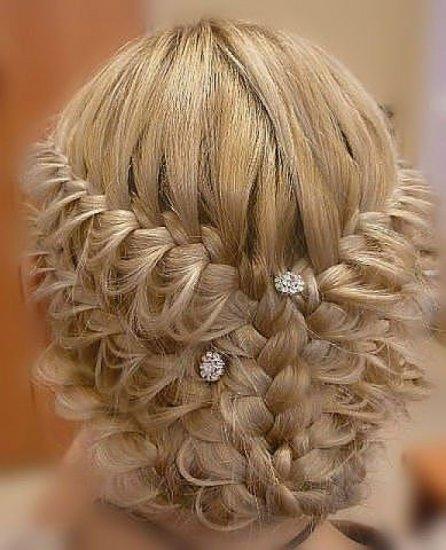 Необычная прическа из кос