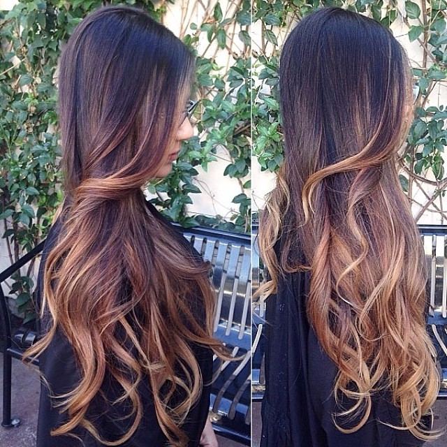 Ombre Solution With Highlights Indian Remy Clip In Hair Extensions