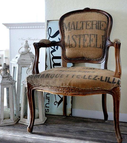 Оригинальный декор из мешковины :: Фото красивых интерьеров
