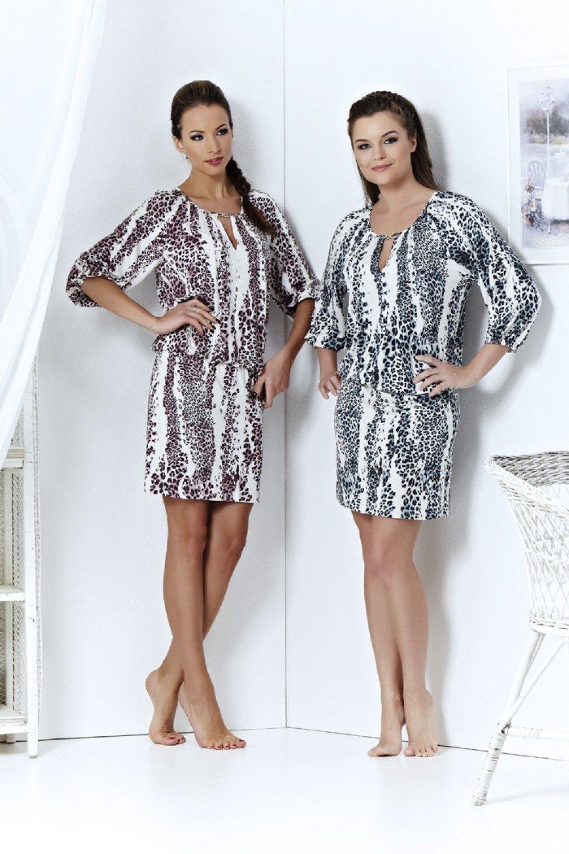 Пляжное платье Top Design А4 018, цвет Розовый принт, за 2490 руб. в интернет-магазине Sarafanoff.net