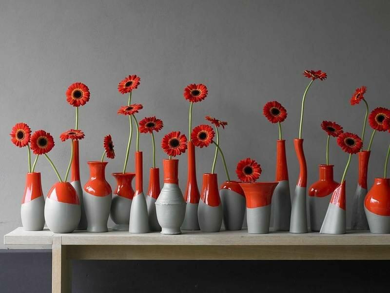 Декор ваз различной формы