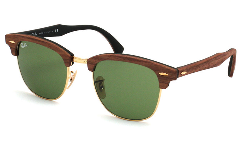 RB 3016M 1182/4E Clubmaster Wood - Ray Ban