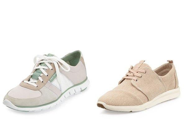 Серые и бежевые кроссовки для женщин, фото