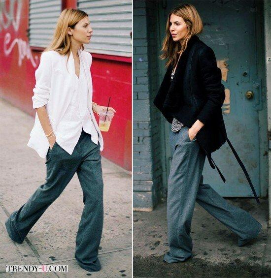 Широкие брюки: как, кому и с чем носить?   Trendy-u.com