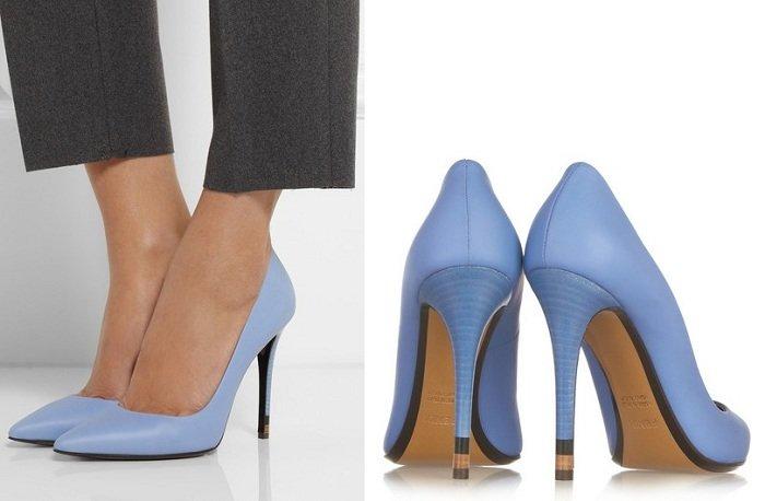 Туфли-лодочки голубого цвета