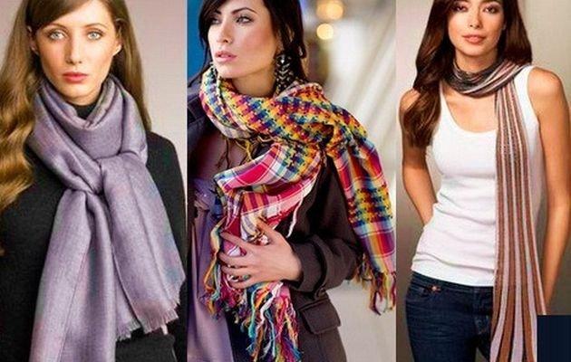 завязываем шарф красиво