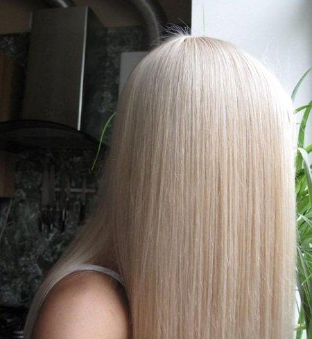 фото жемчужный цвет волос