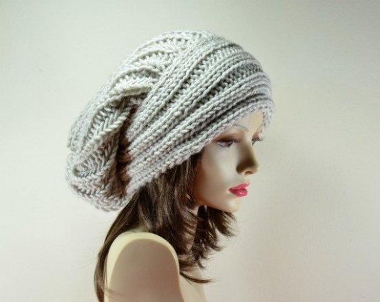 Женские шапки вязаные спицами / фото 2015