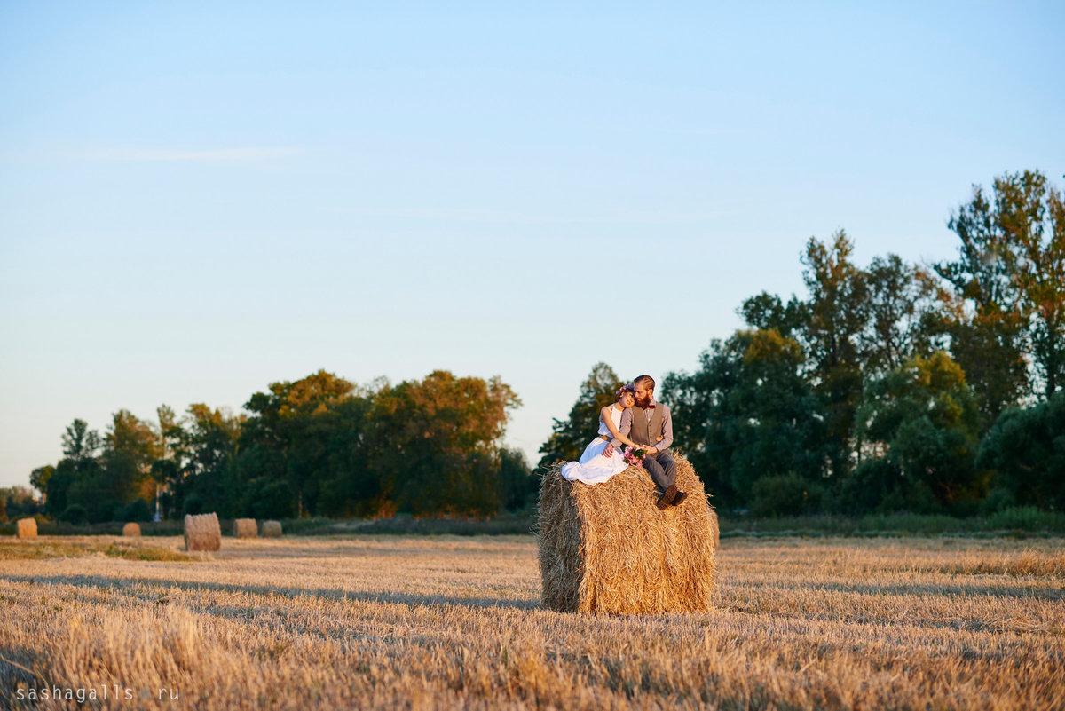 нужно понимать, свадебная фотосессия стог сена также