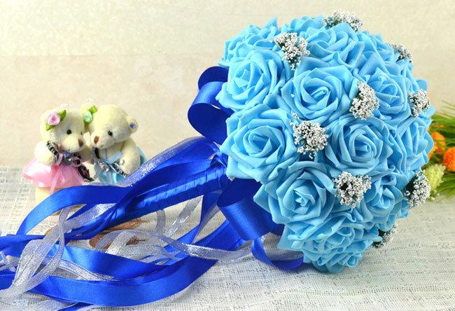 Свадебные букеты из искусственных цветов фото