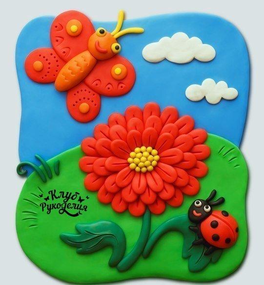 Картина для детской из полимерной глины