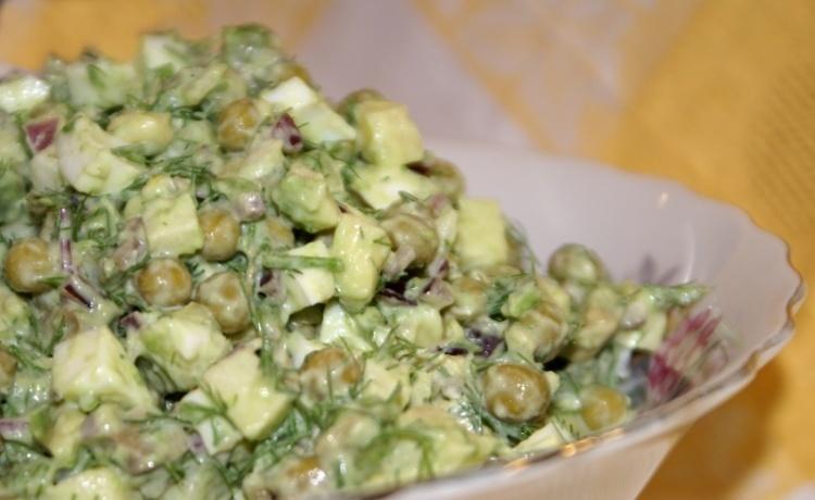 Салат горошек рецепт с фото