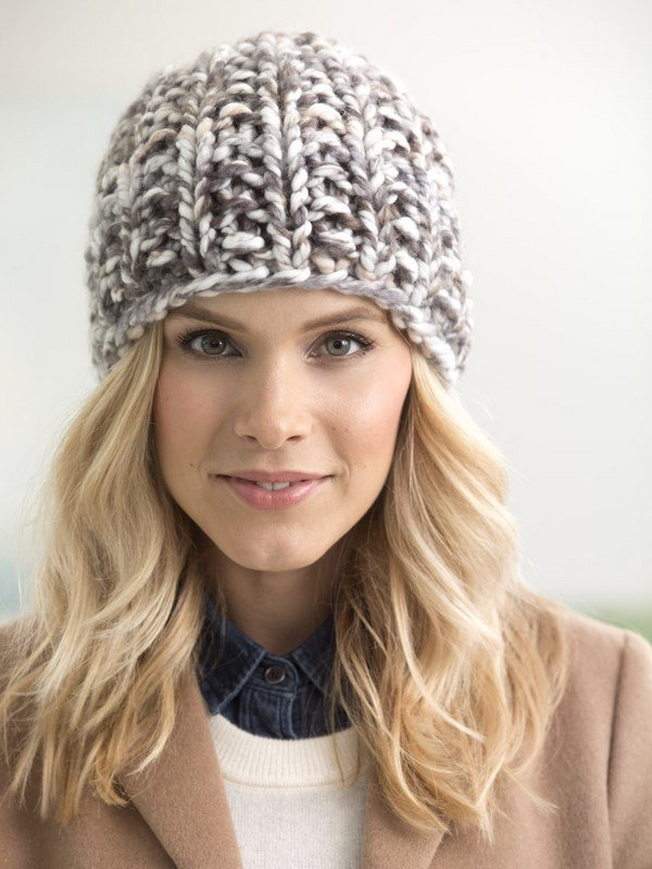 зимние шапки вязаные женские фото