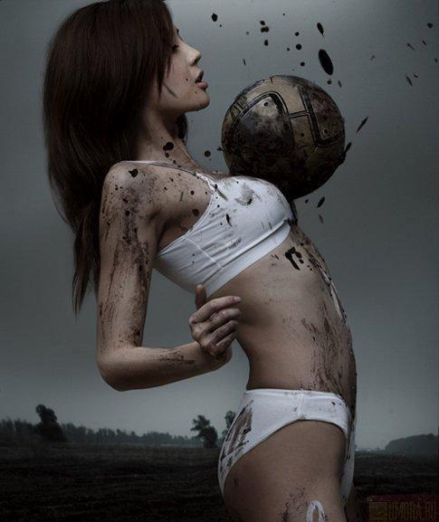 Красота женского футбола