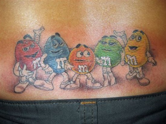 Креативные татуировки на пояснице