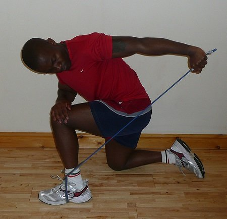 resistance band workout for triceps