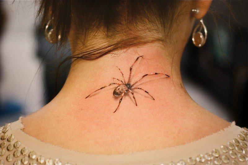 картинки тату для девушек на шее