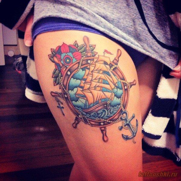 Тату на бедре   Татуировки и все о них фото, эскизы, значение