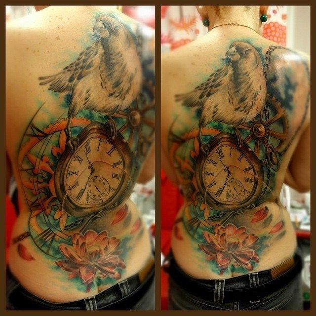 татуировки на спине / Имхомир
