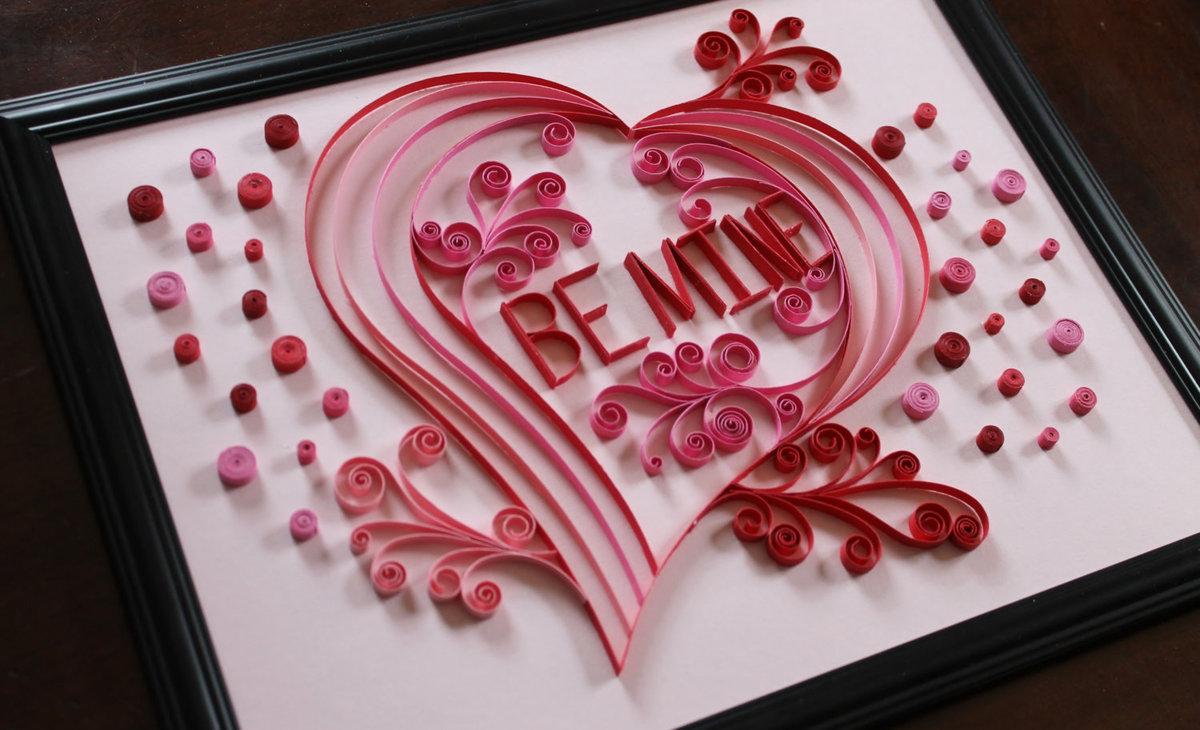 Открытка розы на сердце своими руками