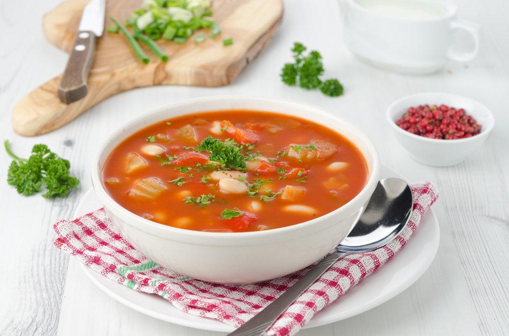 Суп из белой фасоли вегетарианский