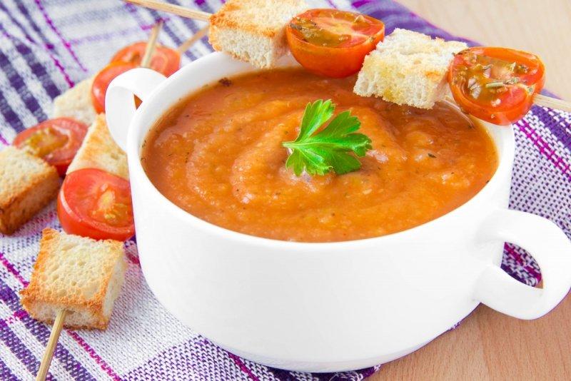 Баклажанный суп-пюре по-французски