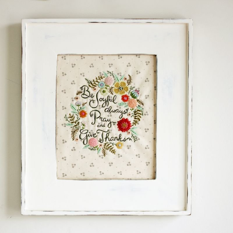 """be joyful"" embroidery by nanaCompany"