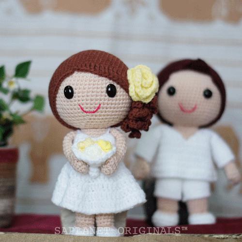 Bella & Wally Beach Wedding Dolls | Amigurumi Dolls and Pattern