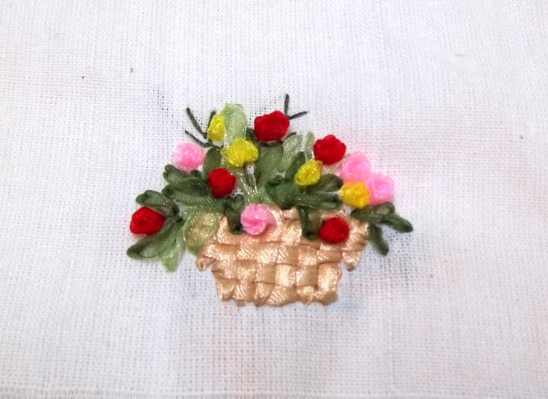 Flower Ribbon Embroidery ~ Nimble Fingers Zone