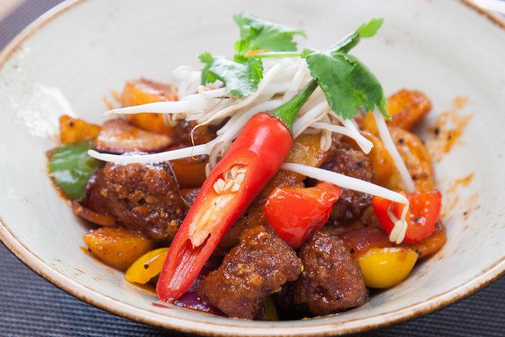 Говядина с овощами и перечным соусом - рецепт - как приготовить - ингредиенты, состав, время приготовления - Леди Mail.Ru