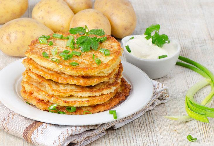 Картофельные оладьи боксти