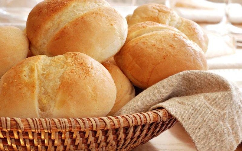 Хлеб, белый, круглый, корзина обои, картинки, фото