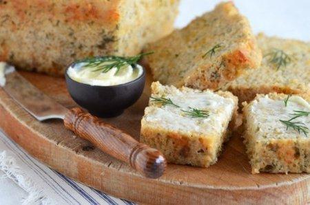 Хлеб к пиву с сыром и укропом