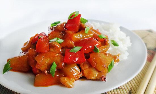 Кисло сладкая свинина с ананасом. Стир фрай (Sweet and Sour Stir Fried Pork)