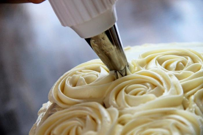 крем для украшения торта шприцом
