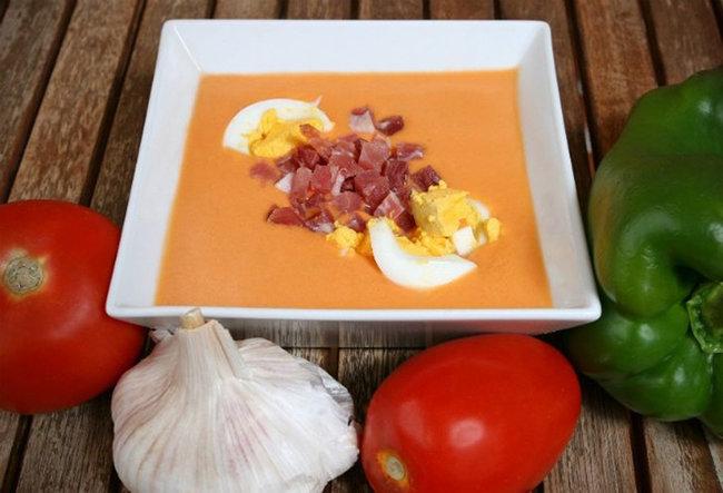 крем-суп с беконом