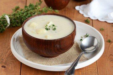 Крем-суп с картошкой и луком