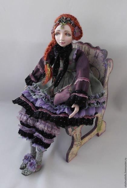 Купить Цветана - комбинированный, фэнтези стиль, романтический стиль, единственный экземпляр, волшебство, фарфор, текстиль