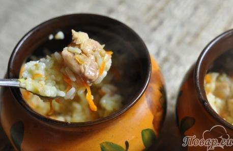 куриный плов в горшочках рецепт с фото