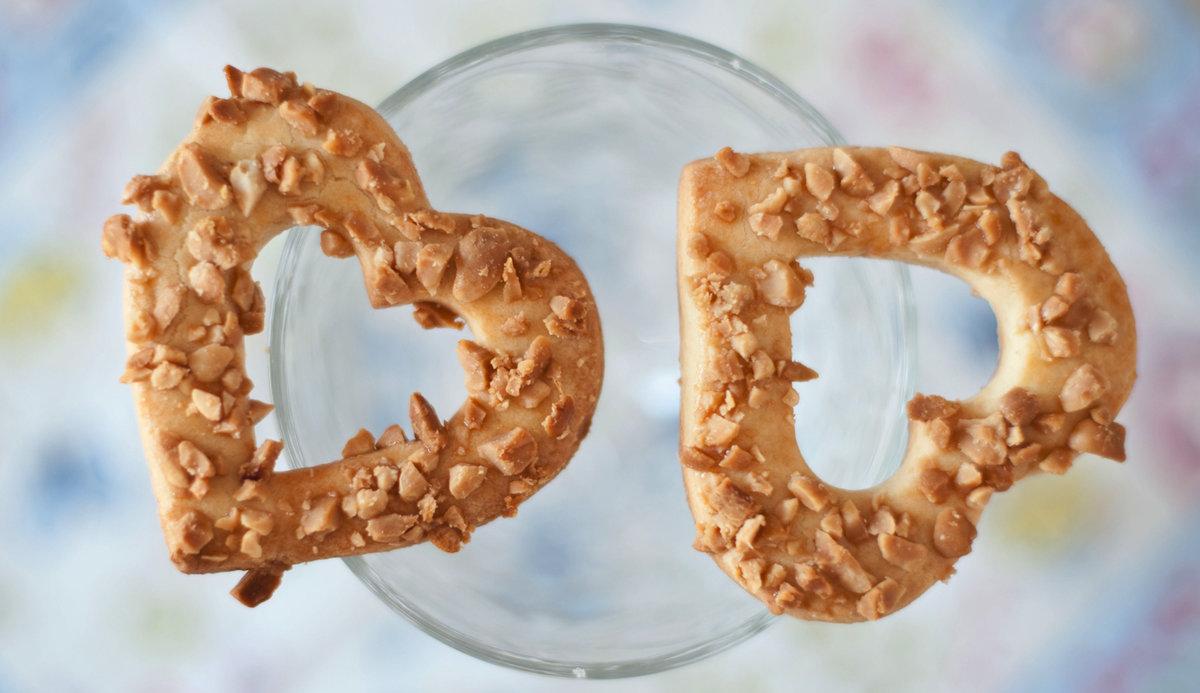 Песочное печенье с арахисом.  Вкусное удовольствие