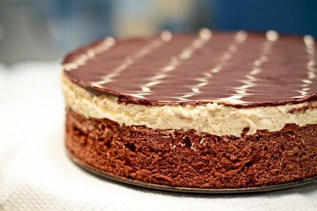 Торт из шоколадного пудинга