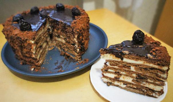 торт с черносливом с фото