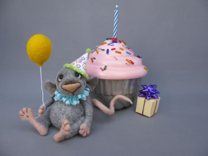 Валянные из шерсти игрушки - мышки от Nichole Encinas