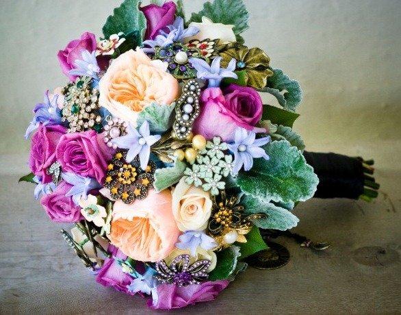 Фотоурок: винтажный свадебный букет