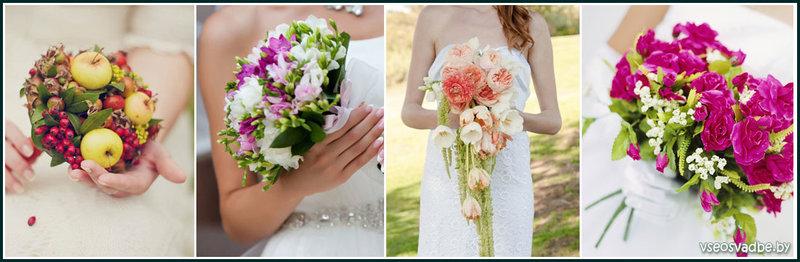 Интересные цветочные композиции для свадебного букета