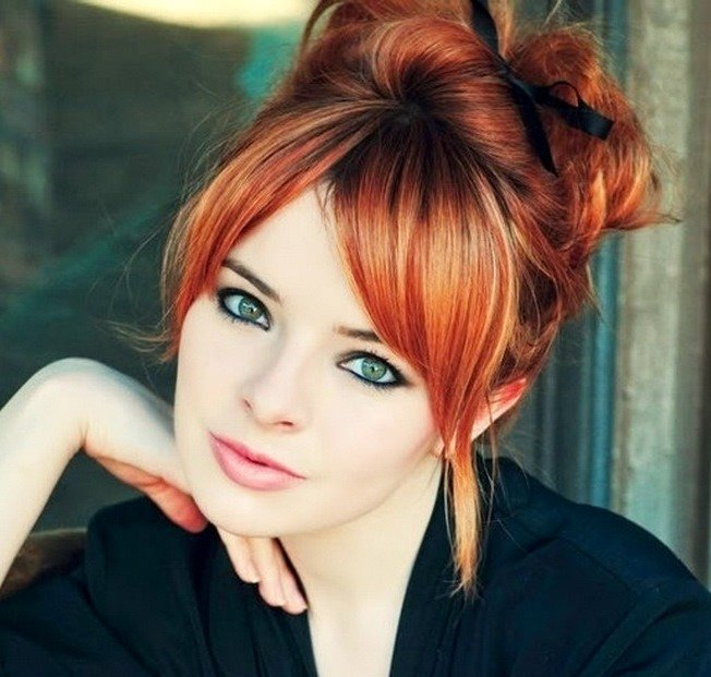 Макияж глаз для рыжих волос