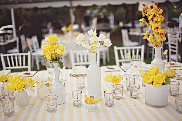 Монохромный свадебный декор - фото - Nashasvadba.net