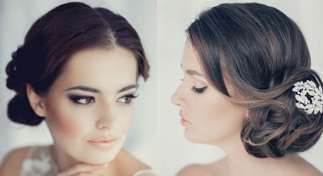 Пучок в греческом стиле на средних волосах