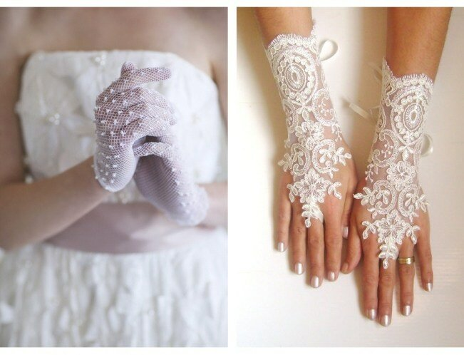 Wedding Day Adornments - Bridal Gloves 6