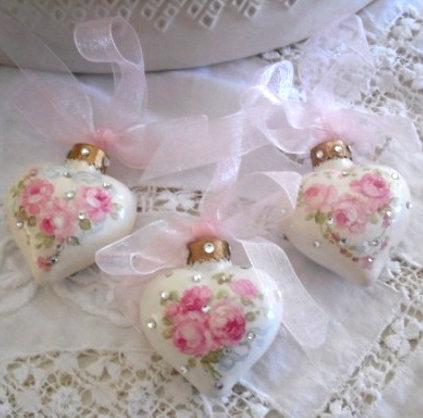 Новогодние шары в стиле шебби - Домашний hand-made Новогодние шары в стиле шебби